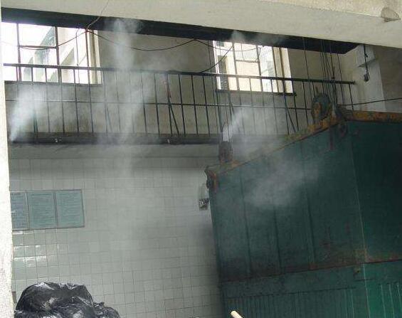 河南垃圾中轉站降溫降塵除臭高壓噴霧設備 1