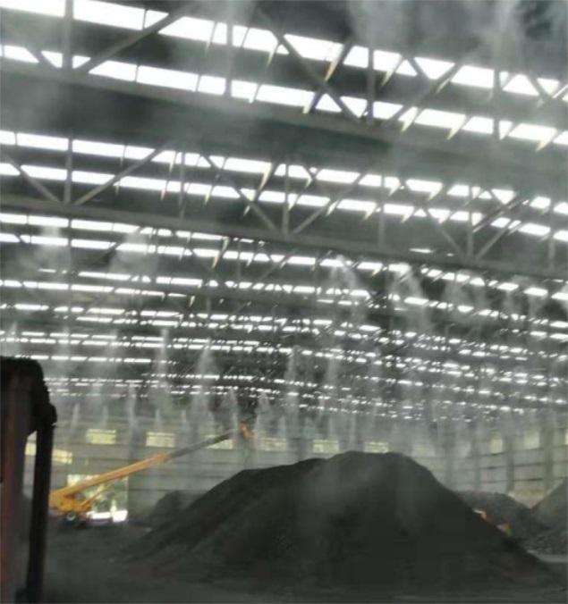 晉城煤礦煤場高壓噴霧降塵設備 1