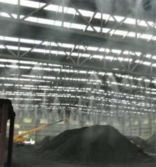晉城煤礦煤場高壓噴霧降塵設備