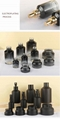 Latest New Design Round Square Perfume Glass Bottle Cosmetic Set with Pump 5