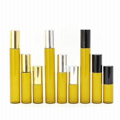 Wholesale 5Ml Perfume or Essential oil Glass Roll On Bottle with Black/Gold/Sliv