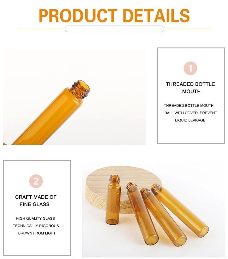 Wholesale 5Ml Perfume or Essential oil Glass Roll On Bottle with Black/Gold/Sliv 3
