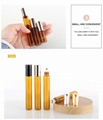 Wholesale 5Ml Perfume or Essential oil Glass Roll On Bottle with Black/Gold/Sliv 4