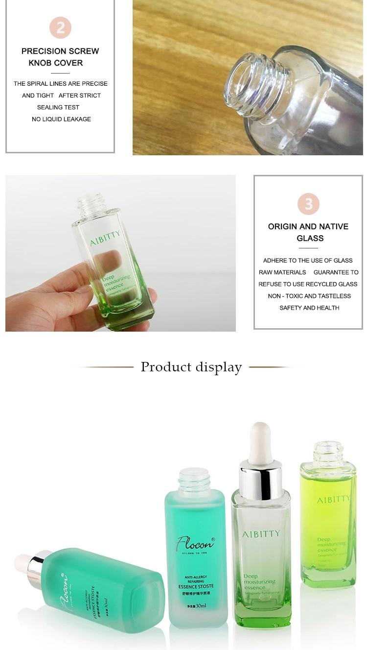 Newest Transparent Luxury 30Ml Glass Serum Perfume Bottle 4