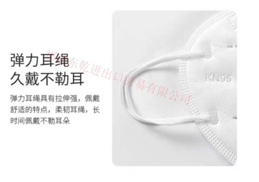 現貨供應一次性成人平面口罩藍白色 4