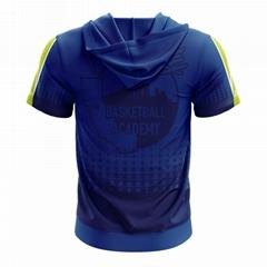 100% Polyester Custom Sublimated Basketball hooded shooting shirt