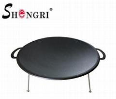 three-legged iron frying pan outdoor BBQ