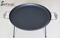 Three-legged Iron fry pan with wire handle