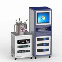 3-target DC magnetron co-sputtering metal coating machine