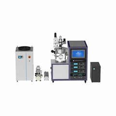 laboratory vacuum PVD 3-target RF magnetron sputtering coater with UPS