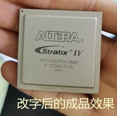 钢面CPU去字改字铁帽子镜面芯片改丝印重新激光打字