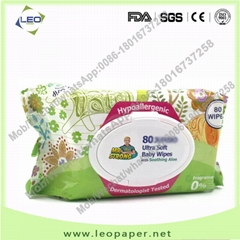 Factory hot sale baby wet wipes bulk unscented