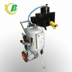 Environmental protection dustless mobile sandblasting machine sandblasting pot