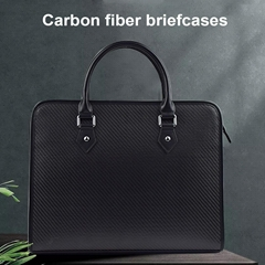 High Quality Luxury Business Carbon Fiber Briefcase For men