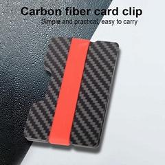 Customization Slim Simple RFID blocking carbon fiber card clip