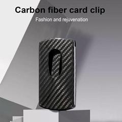 RFID blocking slim lightweight and portable carbon fiber credit card holder