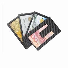 Simple RFID blocking Removable carbon fiber credit id card holder