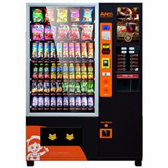 Coffee and Snacks Combo Vending Machine