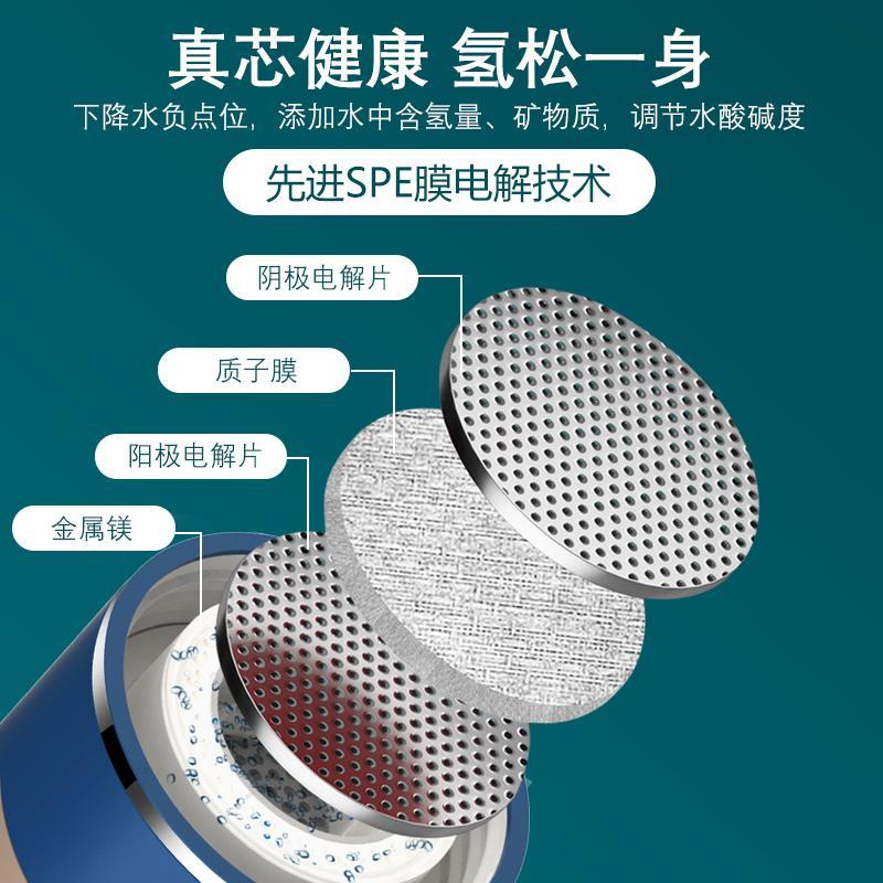 新款可吸氫氣富氫水杯電解高濃度制氫發生器氫氧分離水素水杯廠家 2