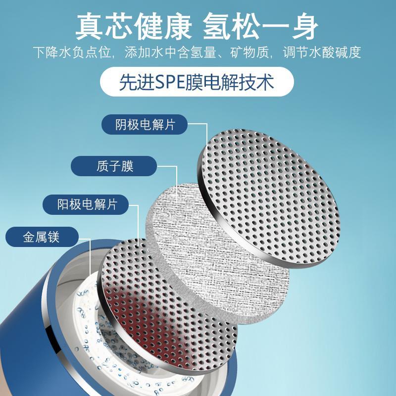 新款可吸氫氣富氫水杯電解高濃度制氫發生器氫氧分離水素水杯廠家 7