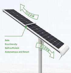 4000LM 50W Solar LED street light Irobot (Self cleaning)