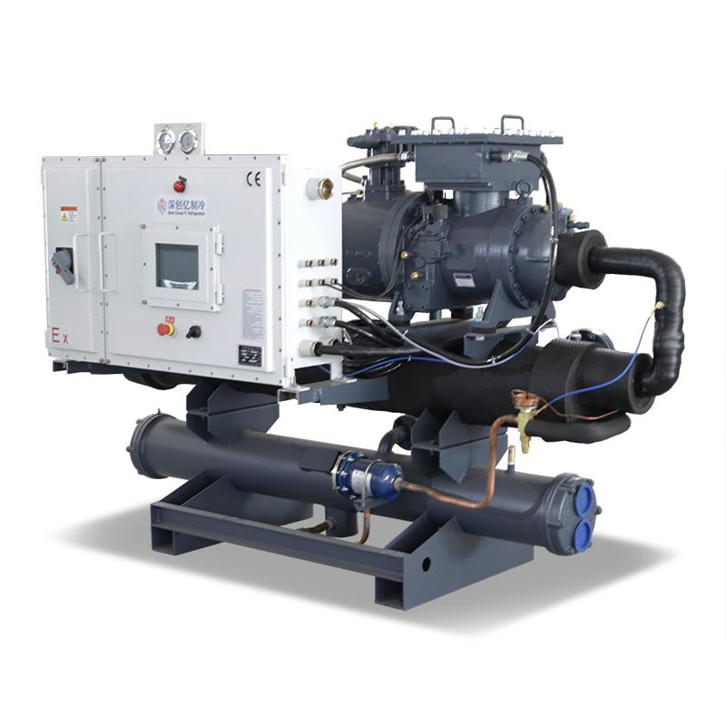 Industry Water chilling equipment 50RT water cooled water chiller 1