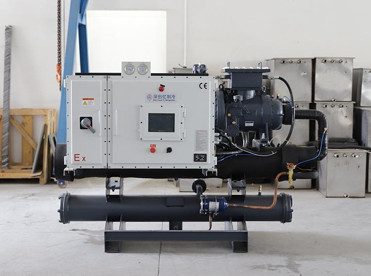 Industry Water chilling equipment 50RT water cooled water chiller 5