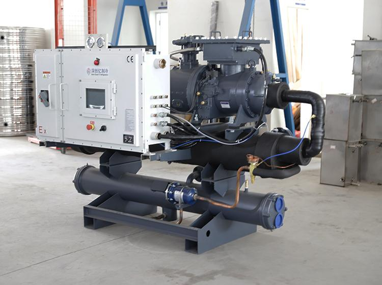 Industry Water chilling equipment 50RT water cooled water chiller 6
