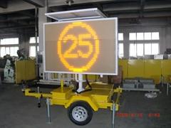 Mobile traffic led sign