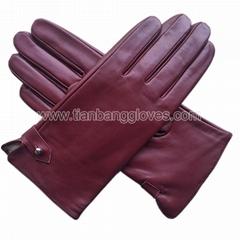 Classic women's  Lambskin nappa Leather Gloves