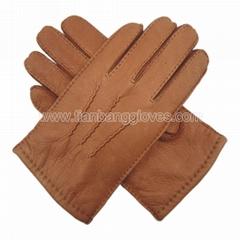 classic handsewn deerskin men's leather gloves
