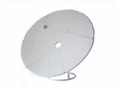 2.4m satellite dish antenna used in C band
