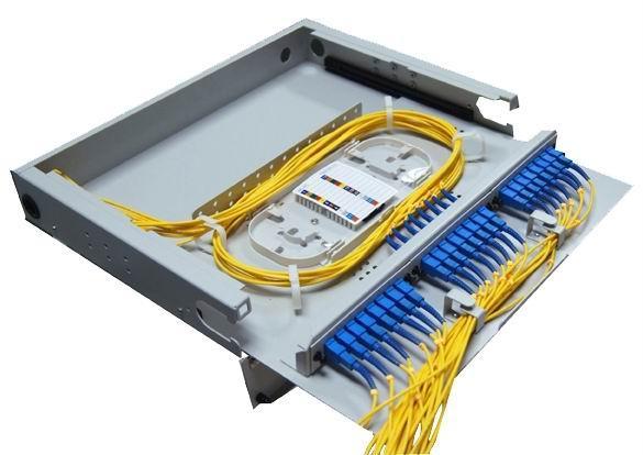 抽拉式透明翻盖光纤终端盒24芯 1