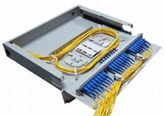 抽拉式透明翻蓋光纖終端盒24芯