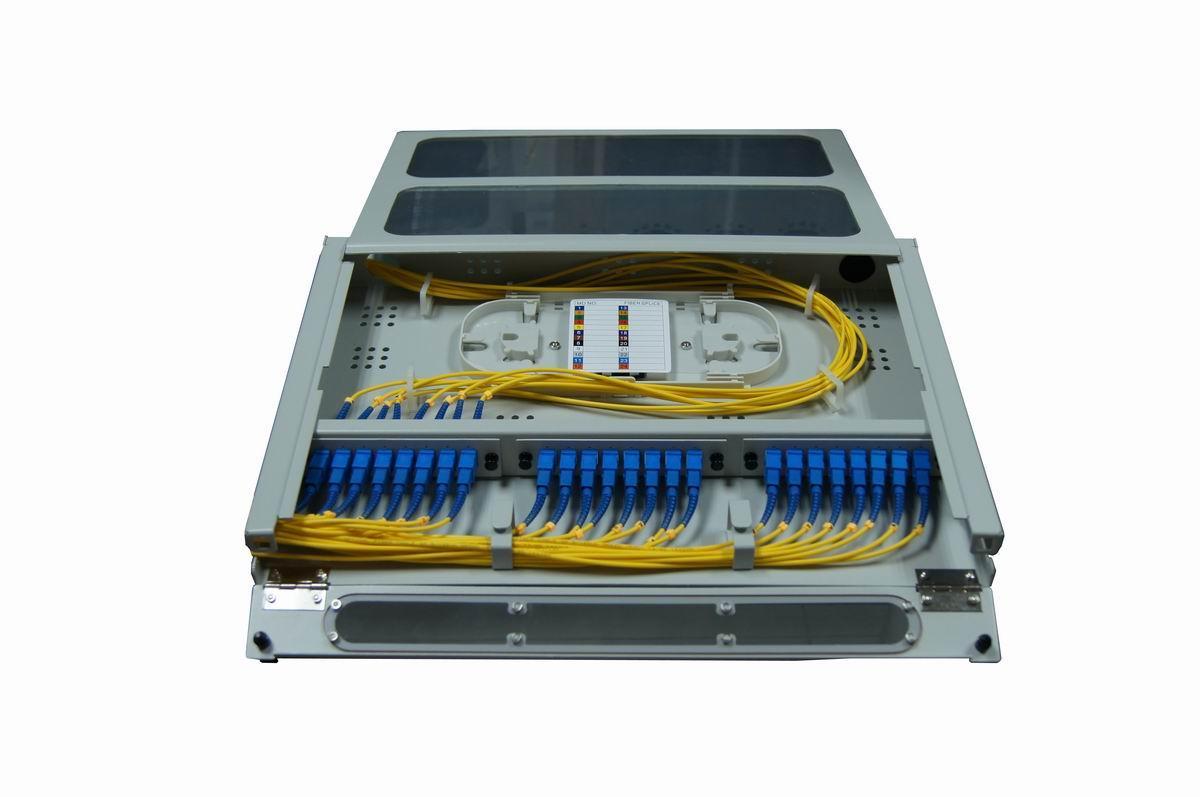 抽拉式透明翻盖光纤终端盒24芯 2