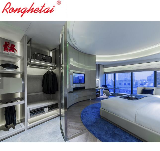 Ronghetai 5 star luxury Moderno Hotel furniture suite custom made metal fabric h 3