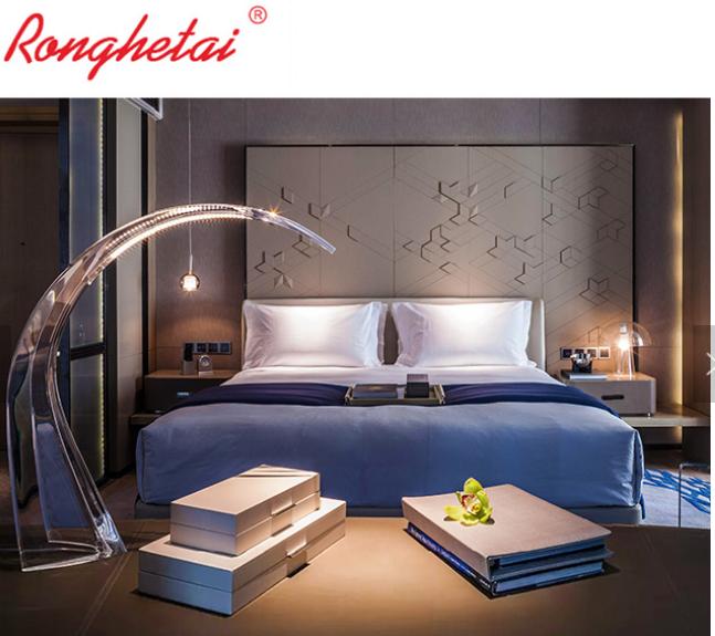 Ronghetai 5 star luxury Moderno Hotel furniture suite custom made metal fabric h 4