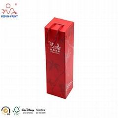 Foldable Metallic Paper Wine Boxes