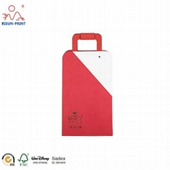 red Matte Lamination Collapsible Gift Packing Boxes Foldable Packaging Box