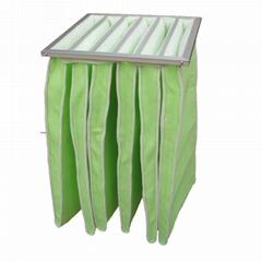 中效合成纤维袋式空气过滤器容尘量大阻力小