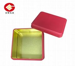 馬口鐵方形糖果盒 餅乾盒