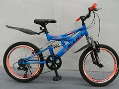 Children and adolescents mountain bike