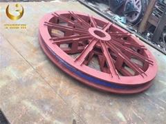 厂家生产1.6米固定天轮 矿用提升天轮耐磨耐用