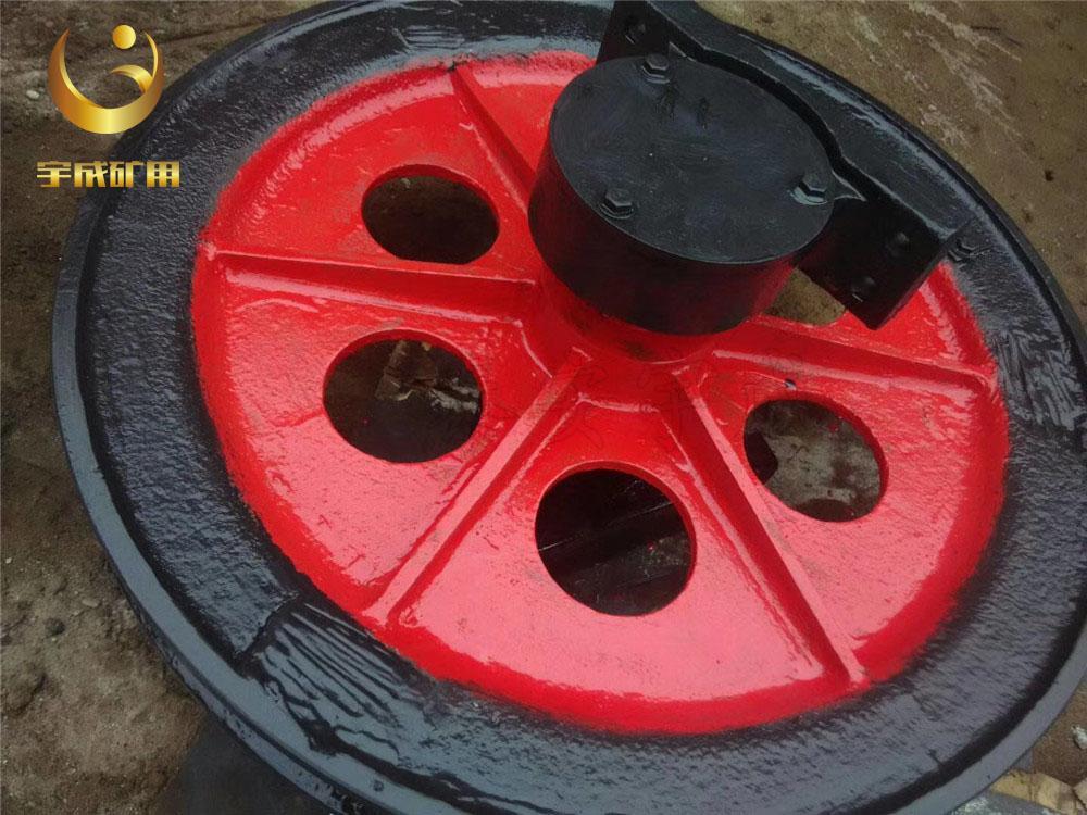 厂家生产1.6米固定天轮 矿用提升天轮耐磨耐用 5