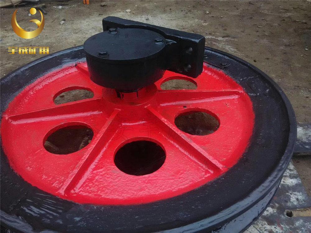 TDG矿用游动天轮 1.6米游动天轮带塑衬 4