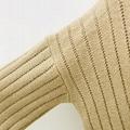 Autumn winter fashion pullover woman crew-neck cashmere sweater trouser suit  3