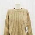 Autumn winter fashion pullover woman crew-neck cashmere sweater trouser suit  5