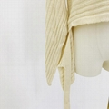 Straight neck front short back long fashion women's knitting Pullover 4