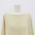 Straight neck front short back long fashion women's knitting Pullover 5
