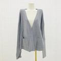 熱賣v領長袖軟針織女式開襟羊毛